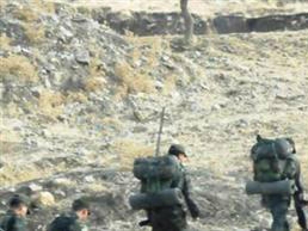Un grupo de soldados, en una imagen de la TV turca
