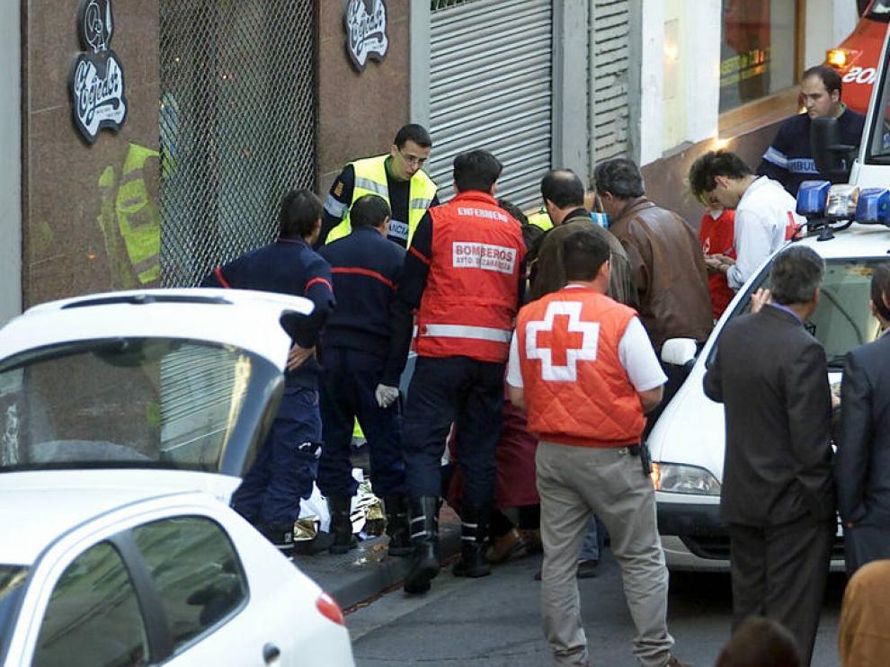 El atentado, en pleno centro de Zaragoza