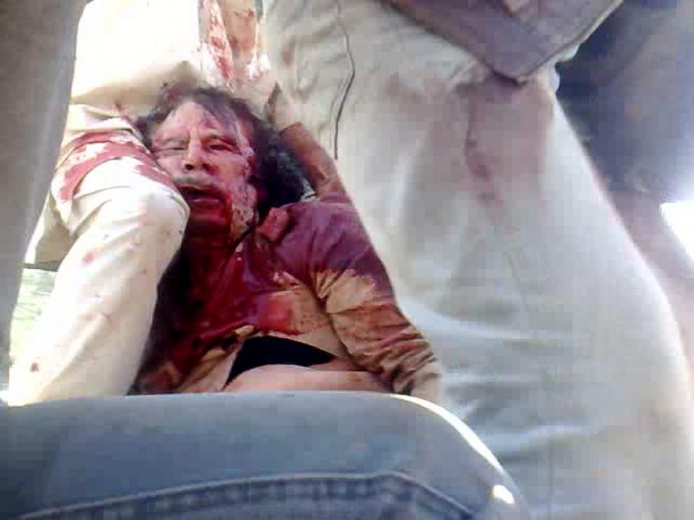 Últimas imágenes de Gadafi