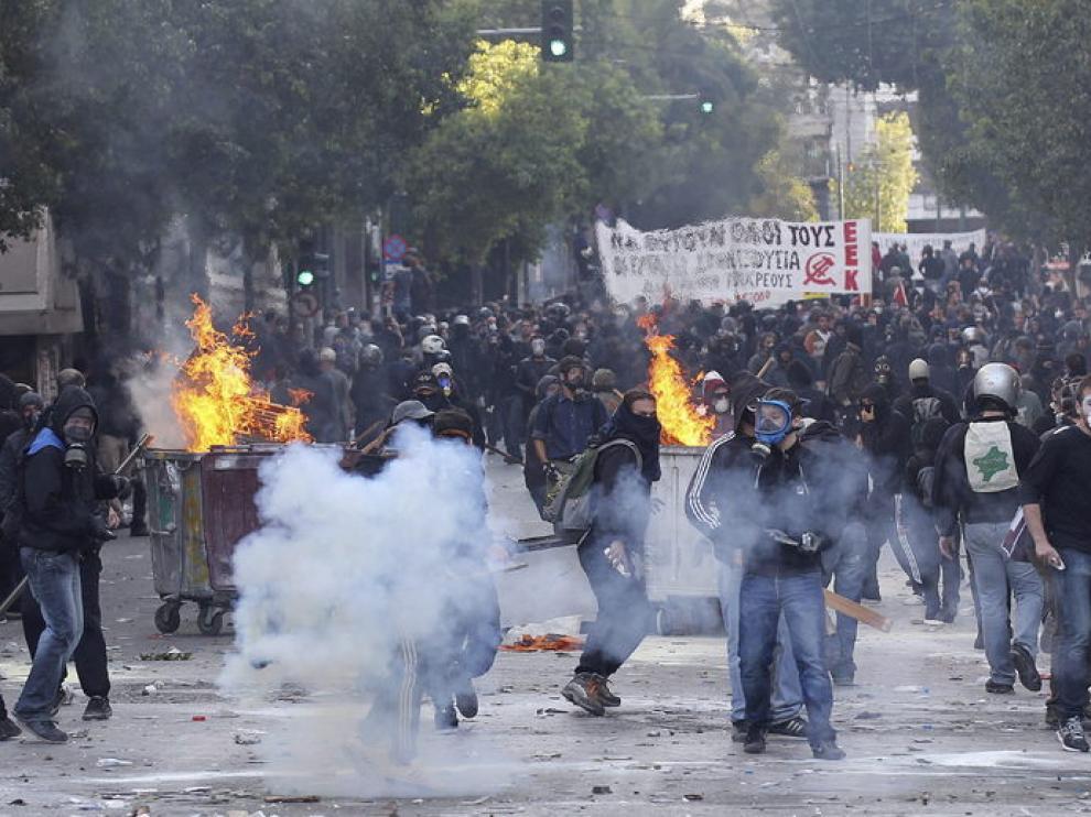 Imagen de la última huelga general en Grecia