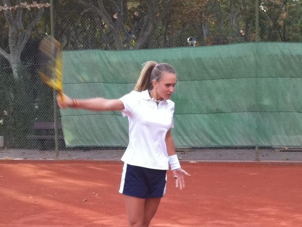 Cristina Sáenz de Buruaga disputará la final en el torneo.