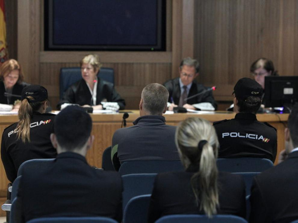 Imagen del juicio a Txapote que está celebrando en la Audiencia Nacional