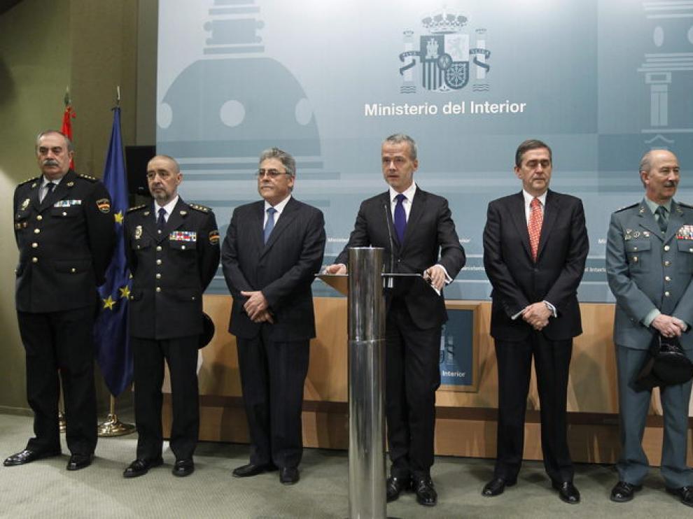 Rueda de prensa del ministro del Interior, Antonio Camacho
