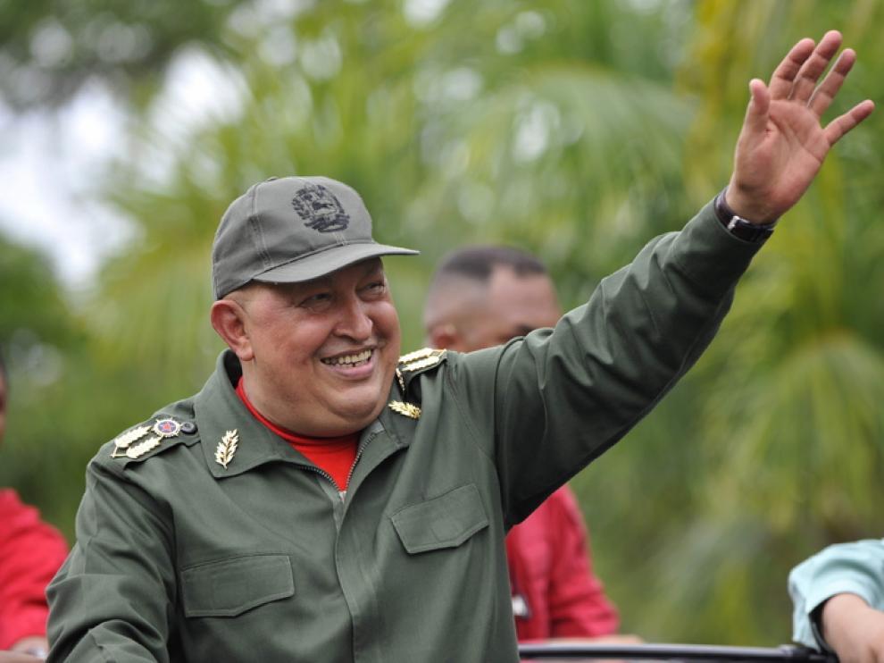 Hugo Chávez en su regreso a Venezuela