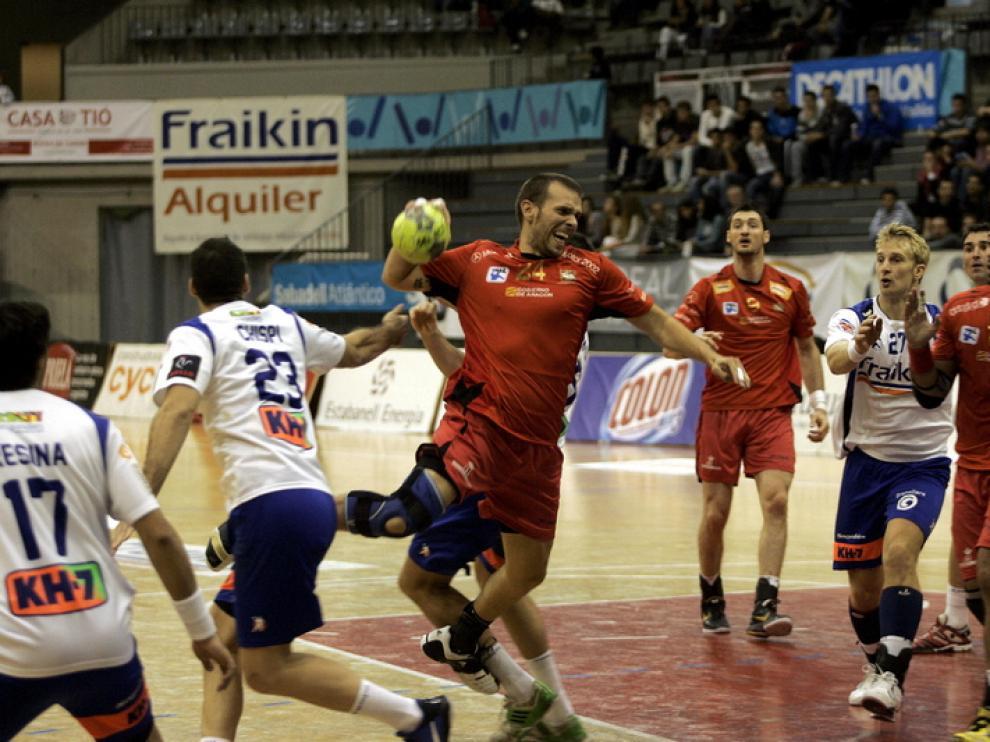 Imagen de archivo de un encuentro del BM Huesca