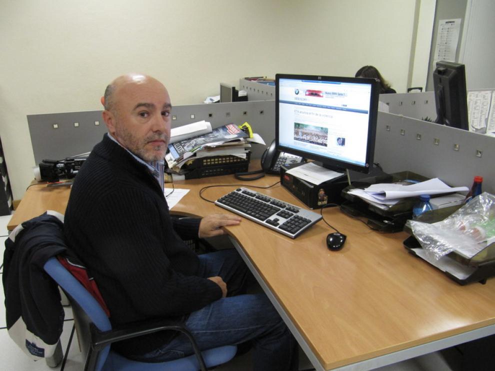 Pablo Asín, en la redacción de HERALDO.es