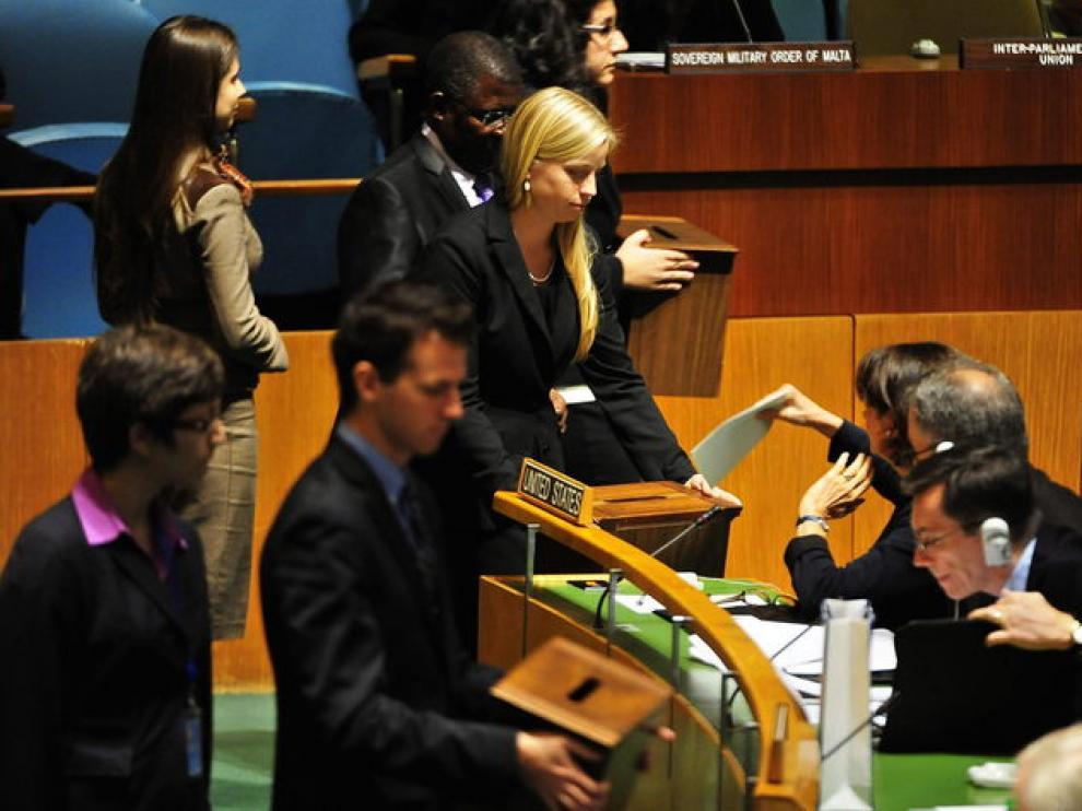 Votación en la sede de la ONU