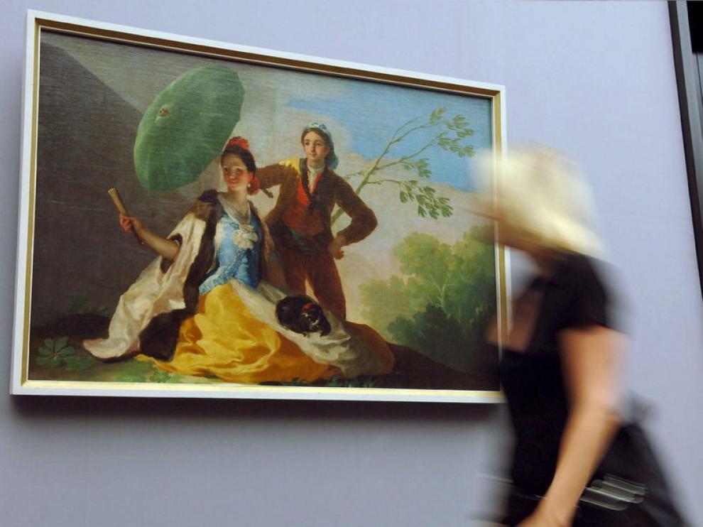 Imagen de 'El quitasol' de Goya