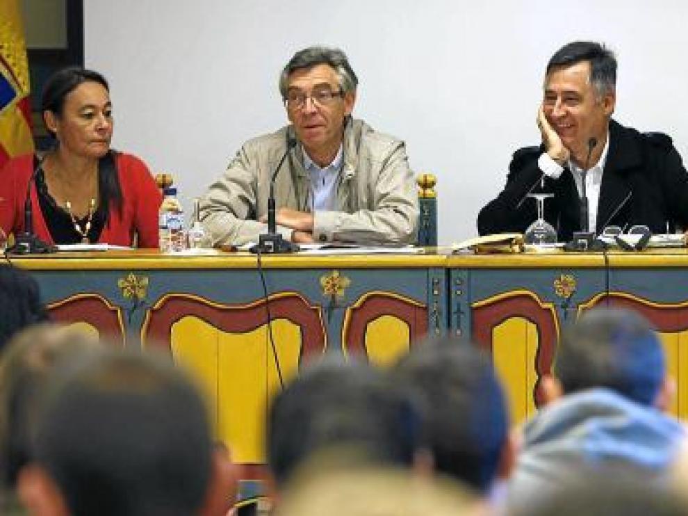 De izquierda a derecha, Isabel Muñoz, Antonio Jiménez, Gervasio Sánchez y Alberto García-Alix.
