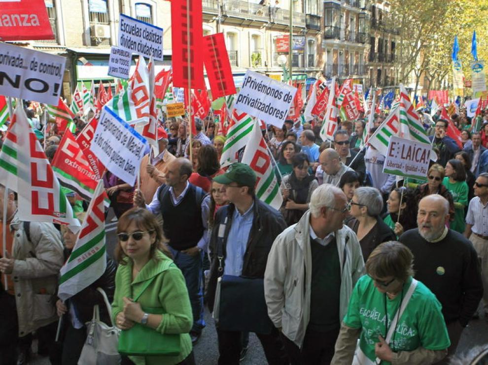 Manifestación por las calles del centro de Madrid