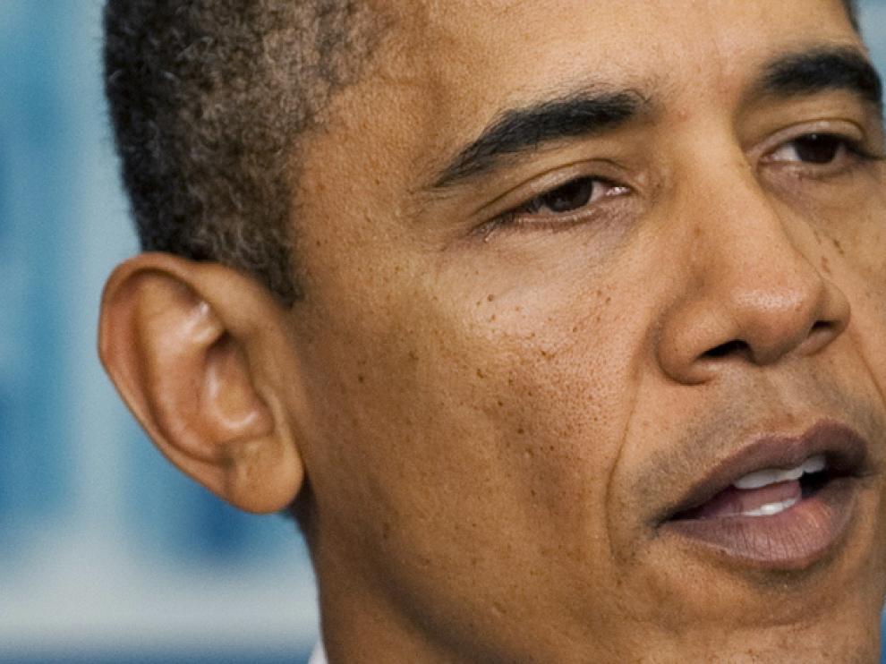 Obama, durante su discurso de los sábados