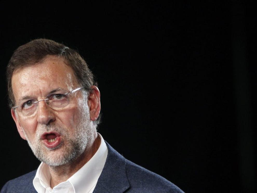 El presidente del PP, Mariano Rajoy