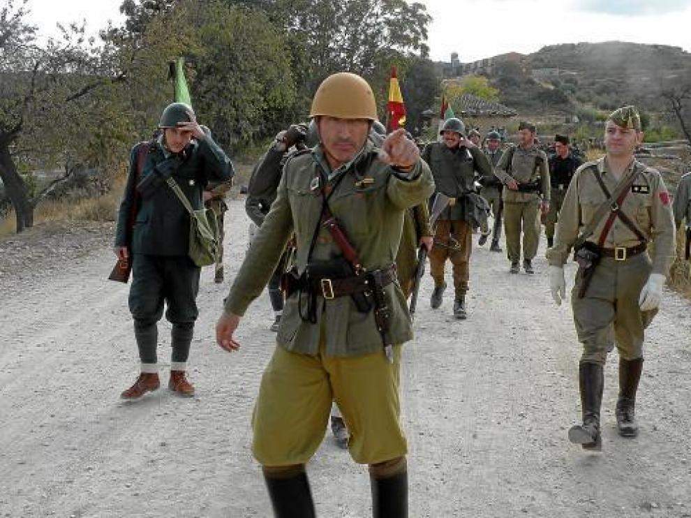 Escenificación del ejército italiano.
