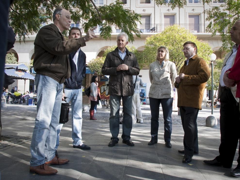 Eloy Suárez, con los hosteleros