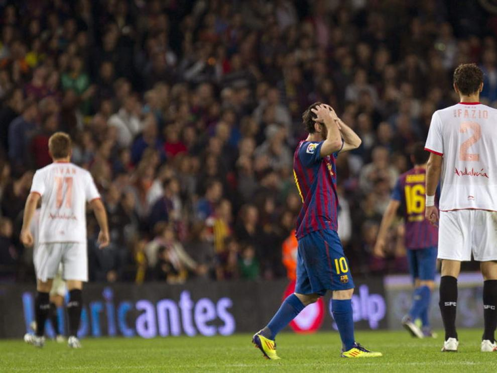 Messi se lamenta tras el fallo