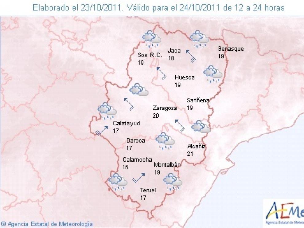 Lluvias en Aragón.