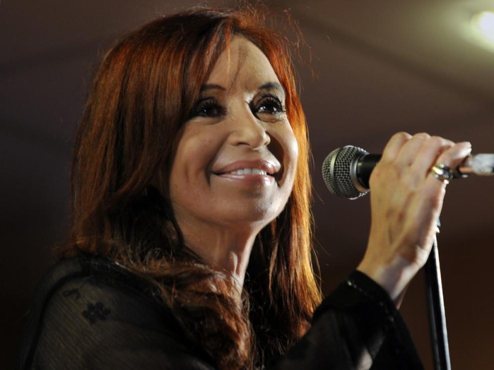 Cristina Fernández celebra su victoria electoral