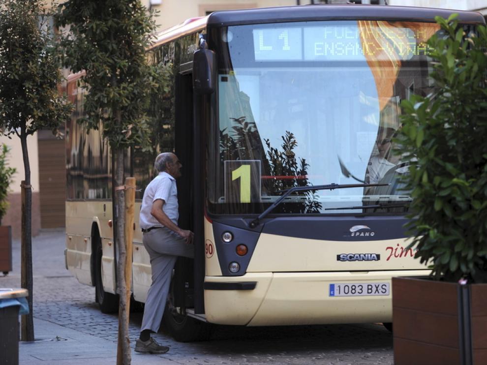 El bus urbano de Teruel