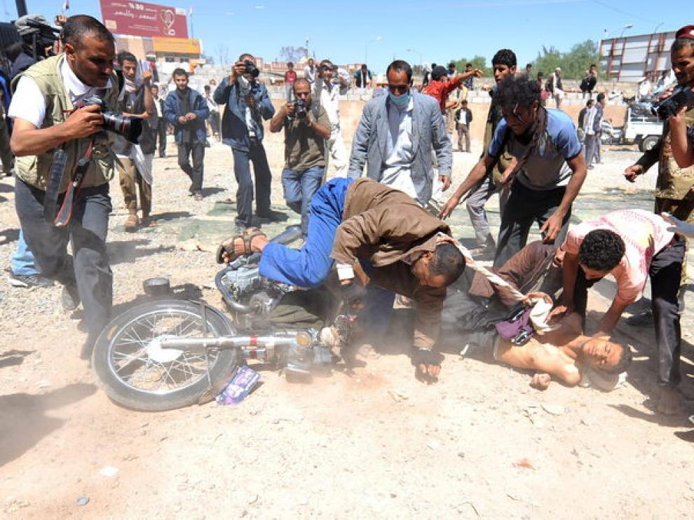 Heridos en los altercados de la mañana en Saná