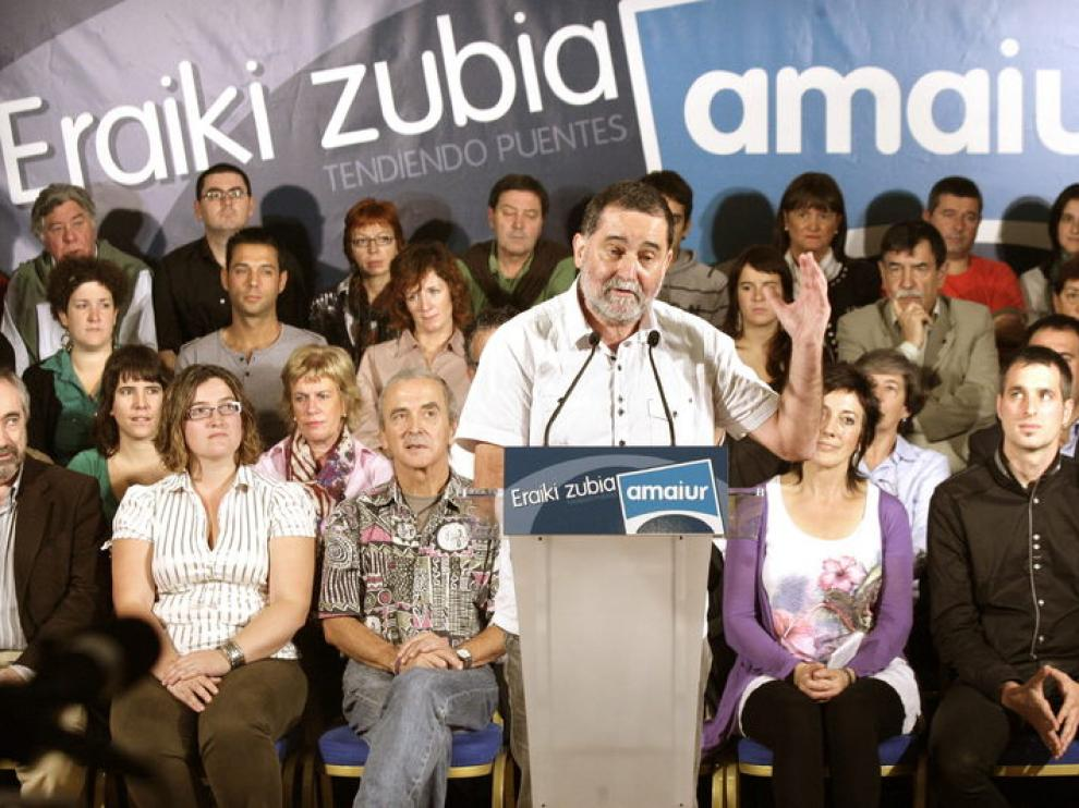 El exparlamentario de Euskal Herritarrok Iñaki Antigüedad, que encabezará la lista por Vizcaya de Amaiur