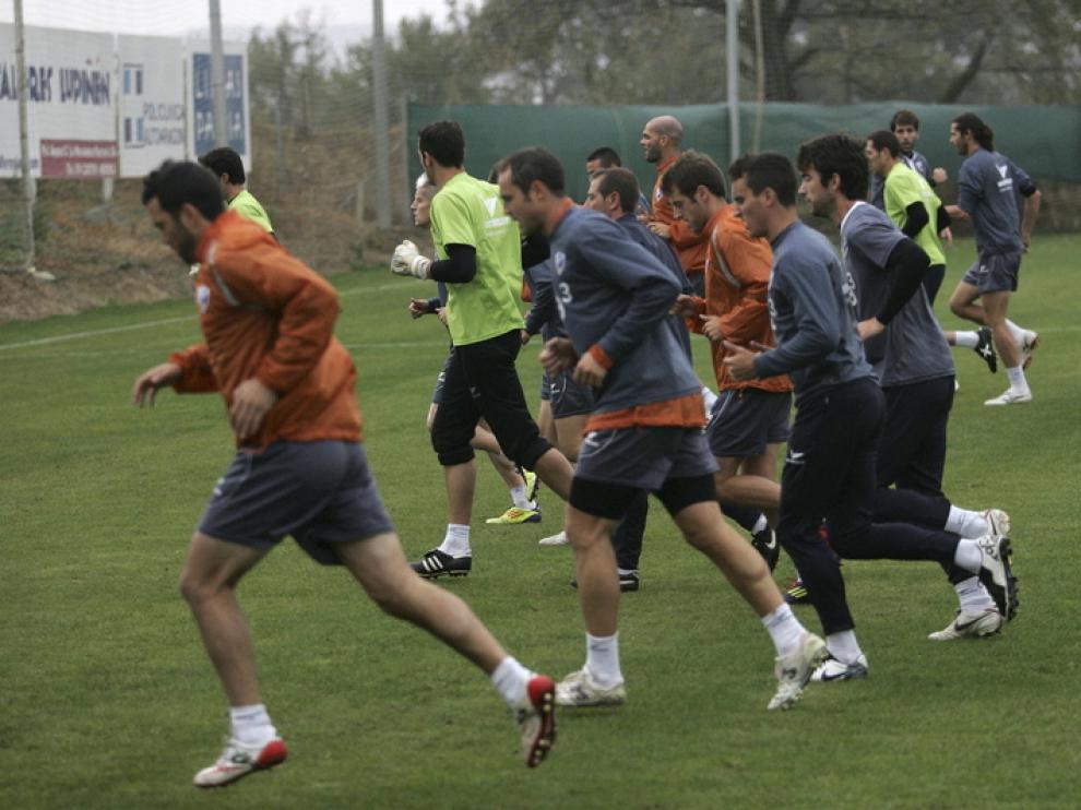Entrenamiento de la SD Huesca de este lunes
