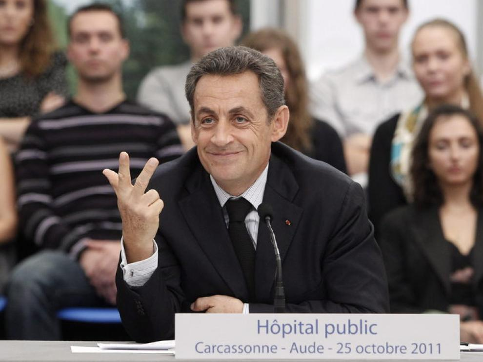 Nicolás Sarkozy, durante la conferencia