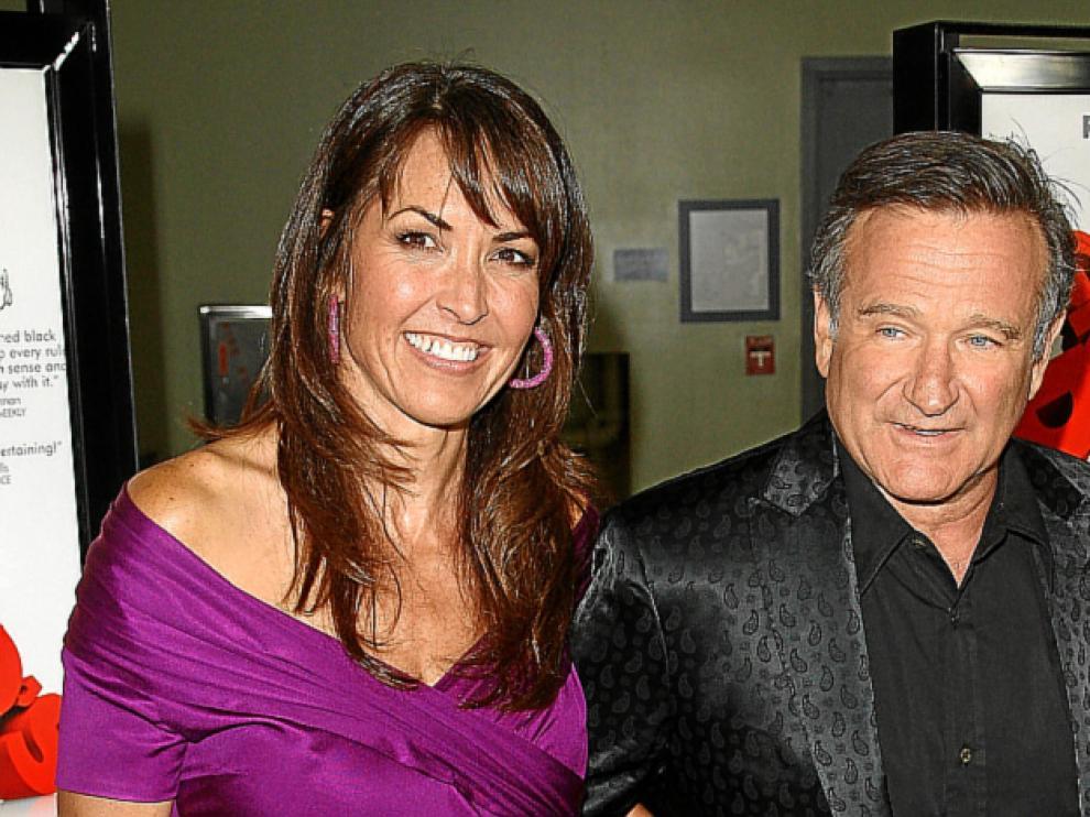 El actor estadounidense Robin Williams y Susan Schneider