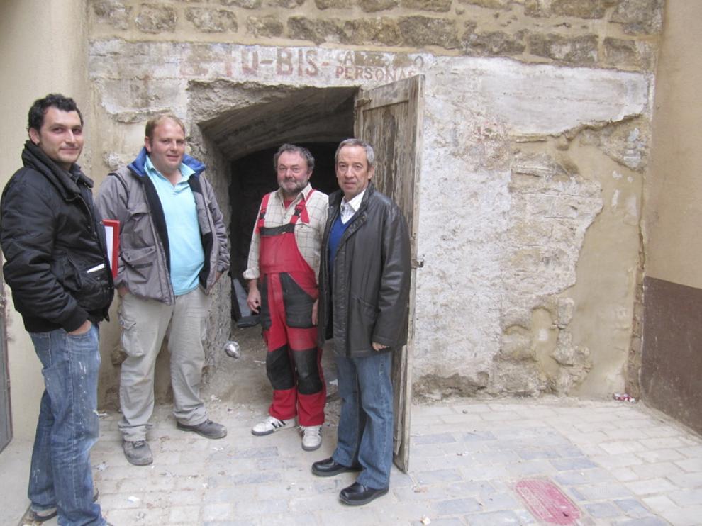Alumnos de la Escuela Taller de Alcañiz