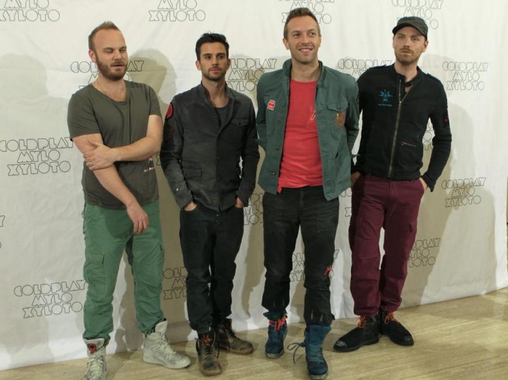 Posado de Coldplay, este miércoles en Madrid