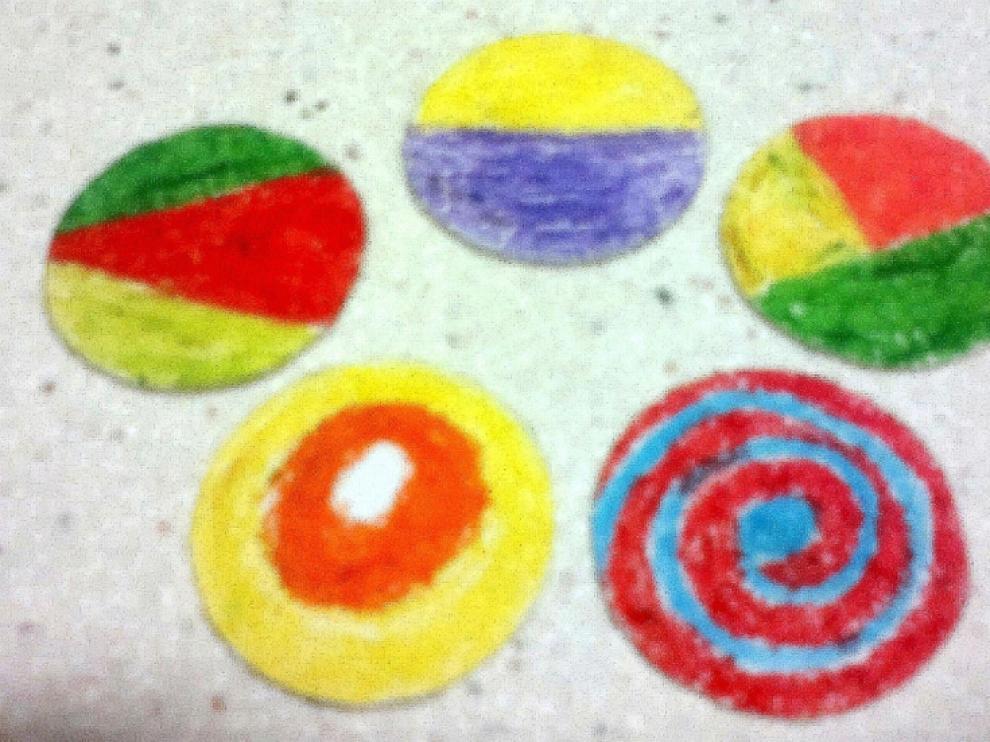 Ejemplos de discos de colores
