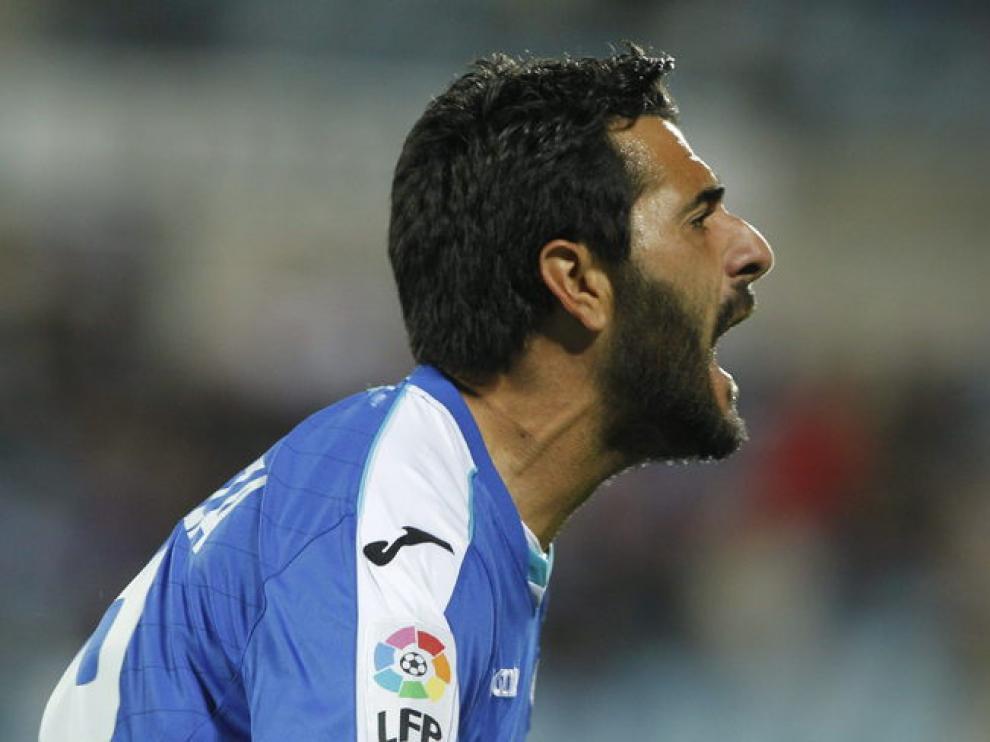 El delantero del Getafe, Dani Güiza
