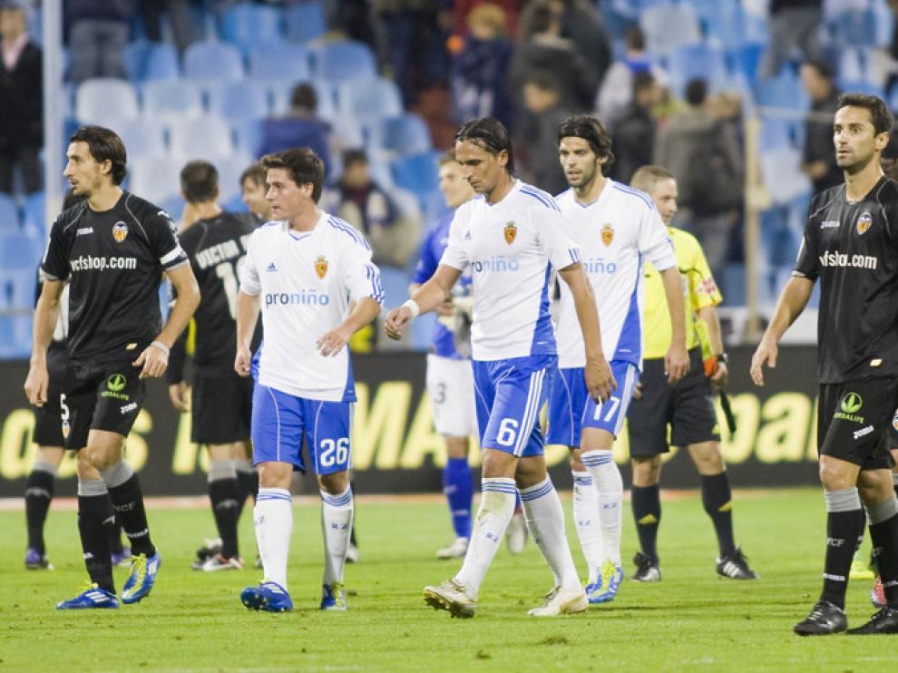 Imágenes del encuentro de Liga entre el Real Zaragoza y el Valencia.