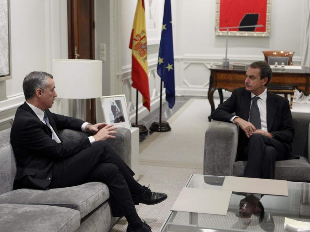 José Luis Rodríguez Zapatero y el presidente del PNV, Íñigo Urkullu