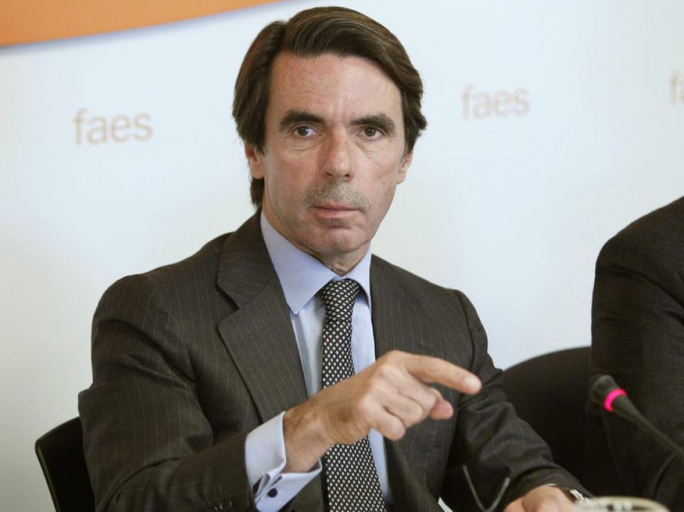 El expresidente del Gobierno, José María Aznar