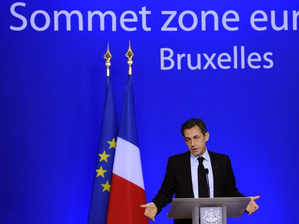 Sarkozy durante la cumbre