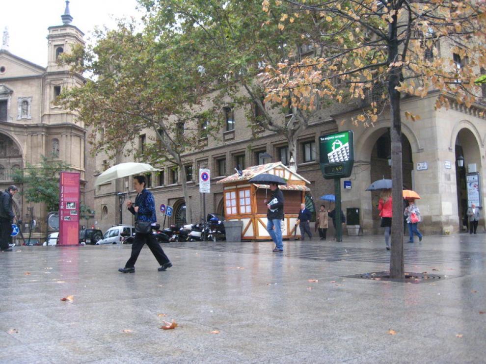 Lluvias en Zaragoza