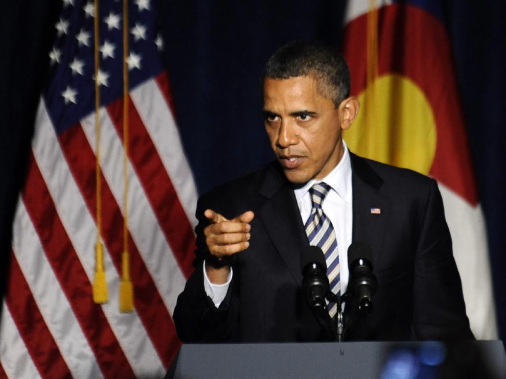 Barak Obama en una rueda de prensa reciente
