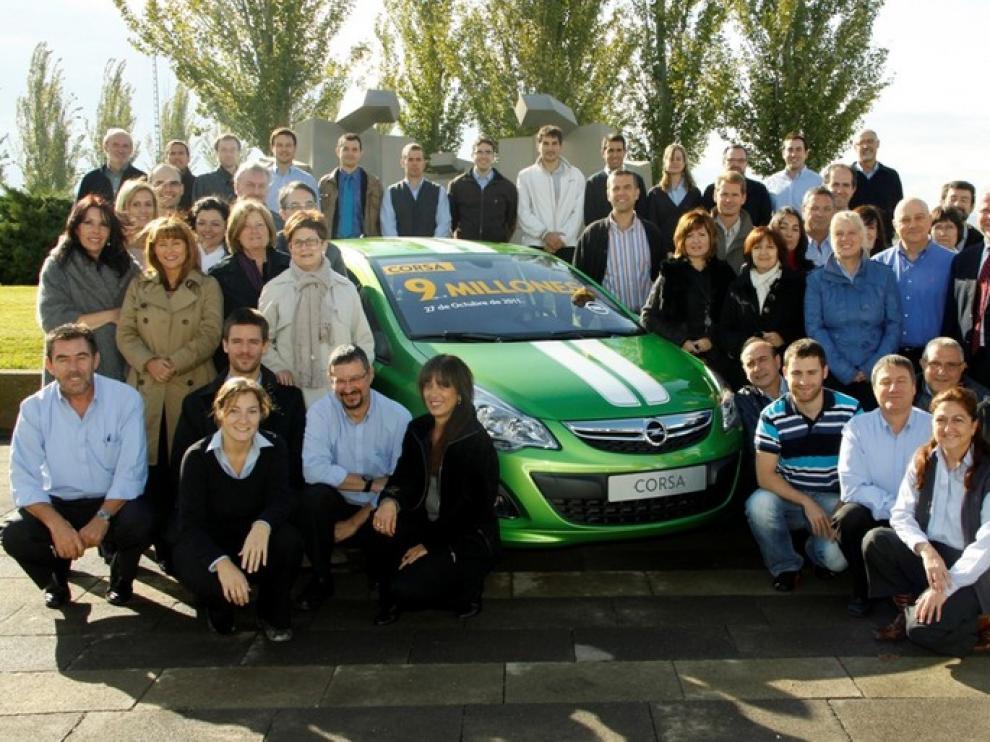 Salida de la Unidad 9 Millones del Opel Corsa fabricada en la Planta de GM España en Figueruelas