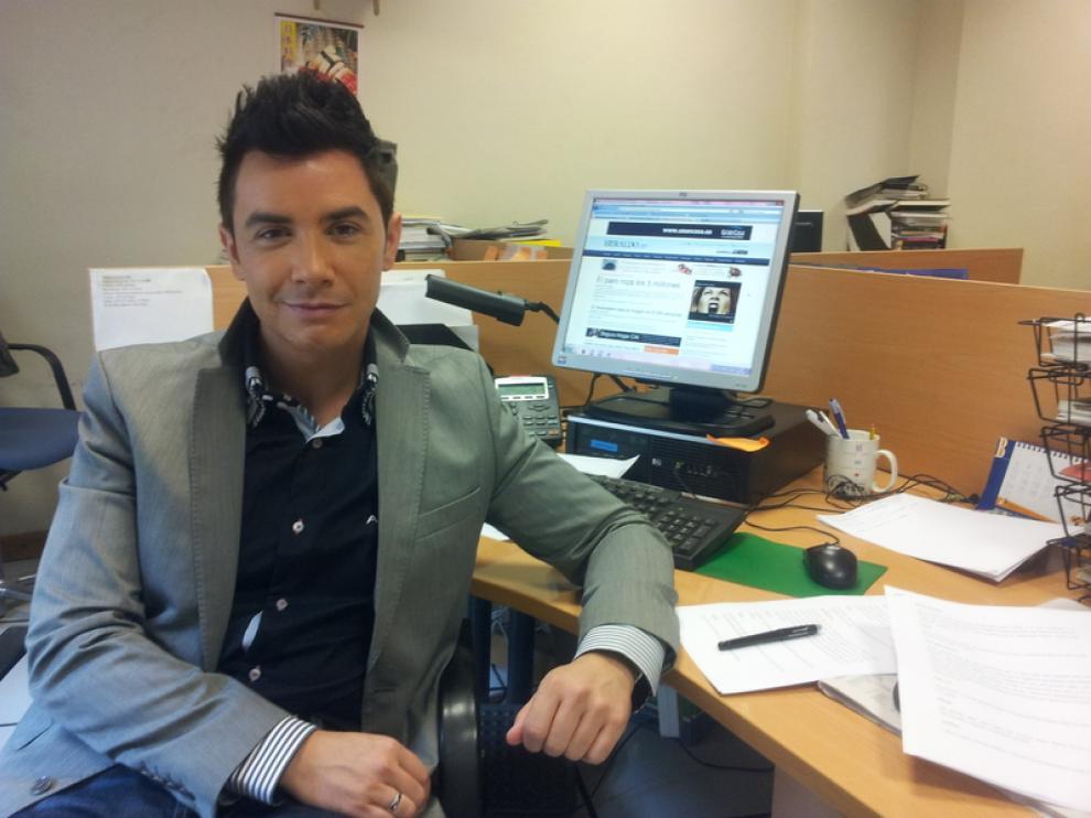 David Civera en la redacción de HERALDO.es