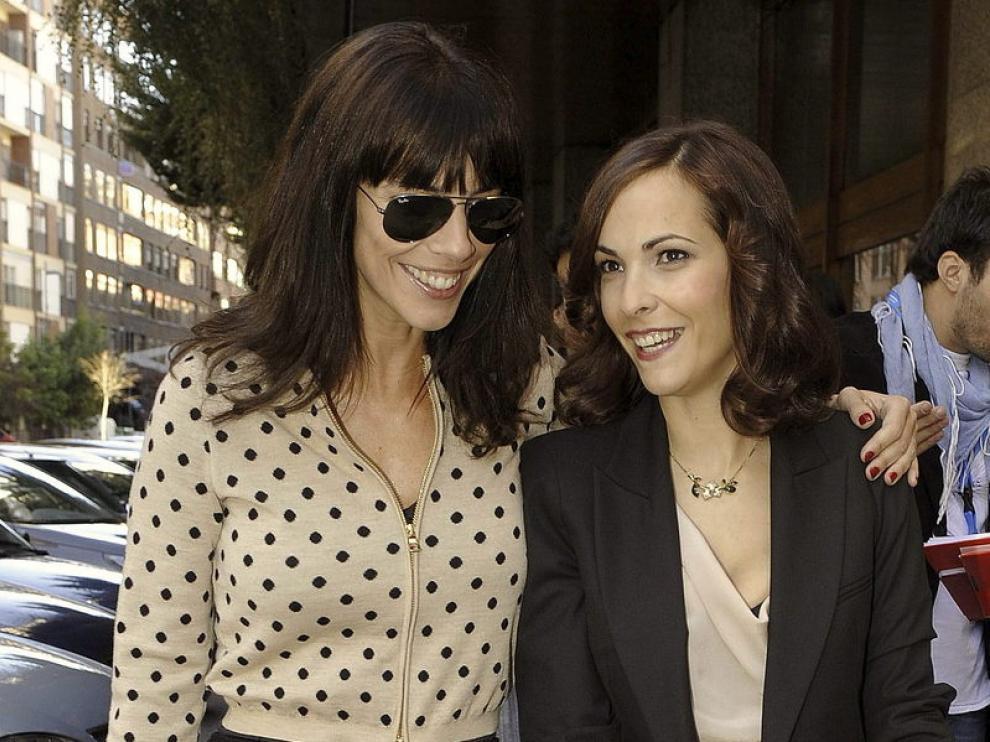 Maribel Verdú junto a la aragonesa Paula Ortíz