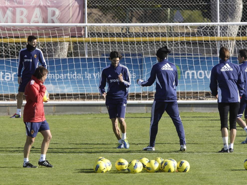 Imagen de los entrenamientos realizados en la ciudad deportiva.