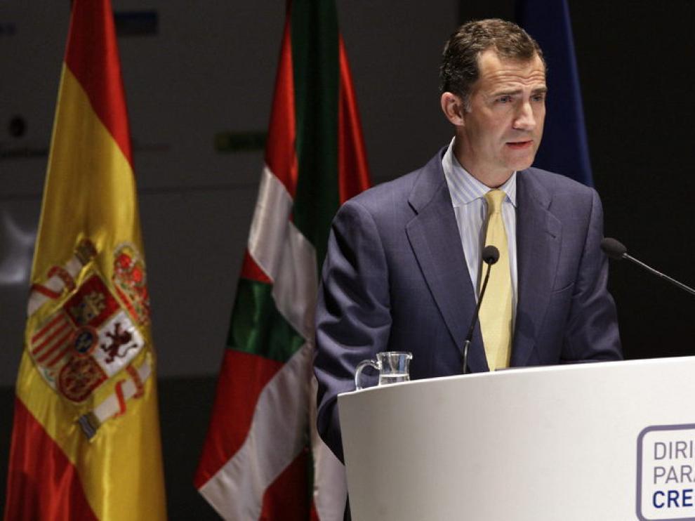 El Príncipe durante el discurso de clausura del Congreso de Directivos de la CEDE