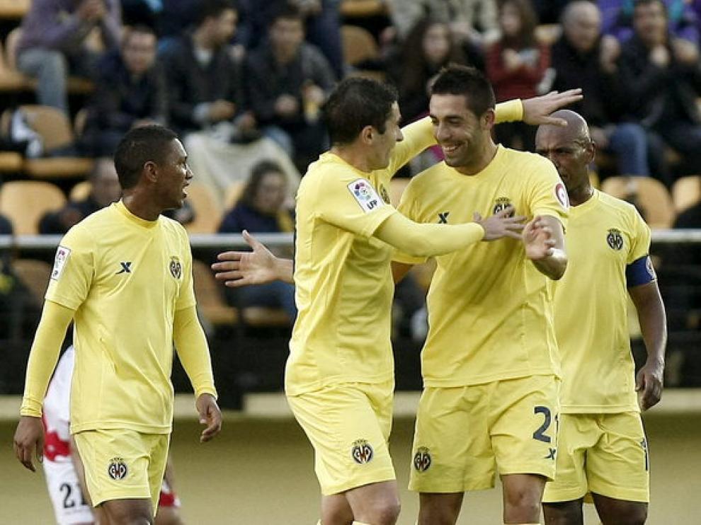 El conjunto castellonense celebra su primer gol