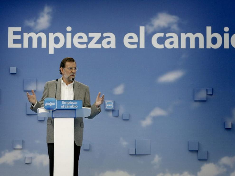 Mariano Rajoy, ayer en La Coruña