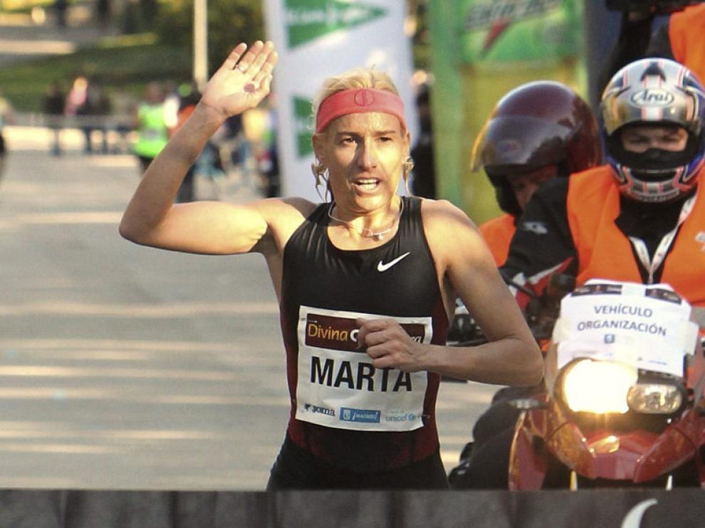 Marta Domínguez cruza la meta en su reaparición