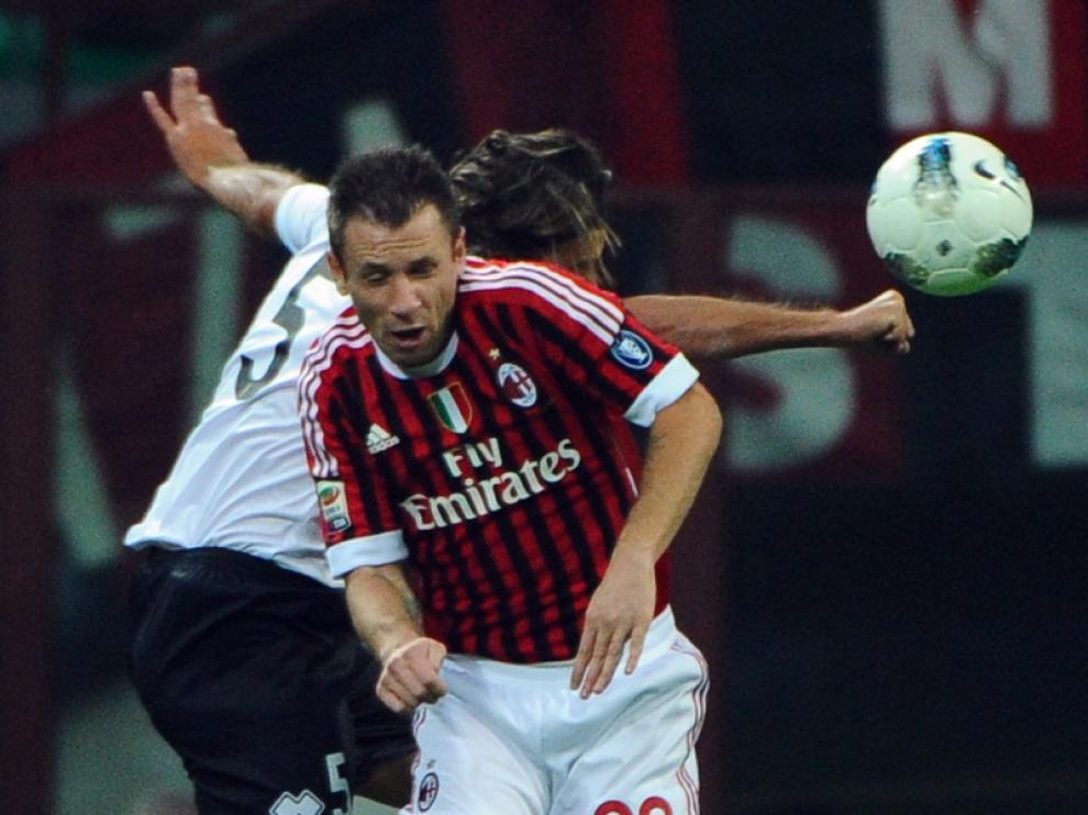 Foto de archivo del jugador italiano durante el encuentro contra el FC Parma.