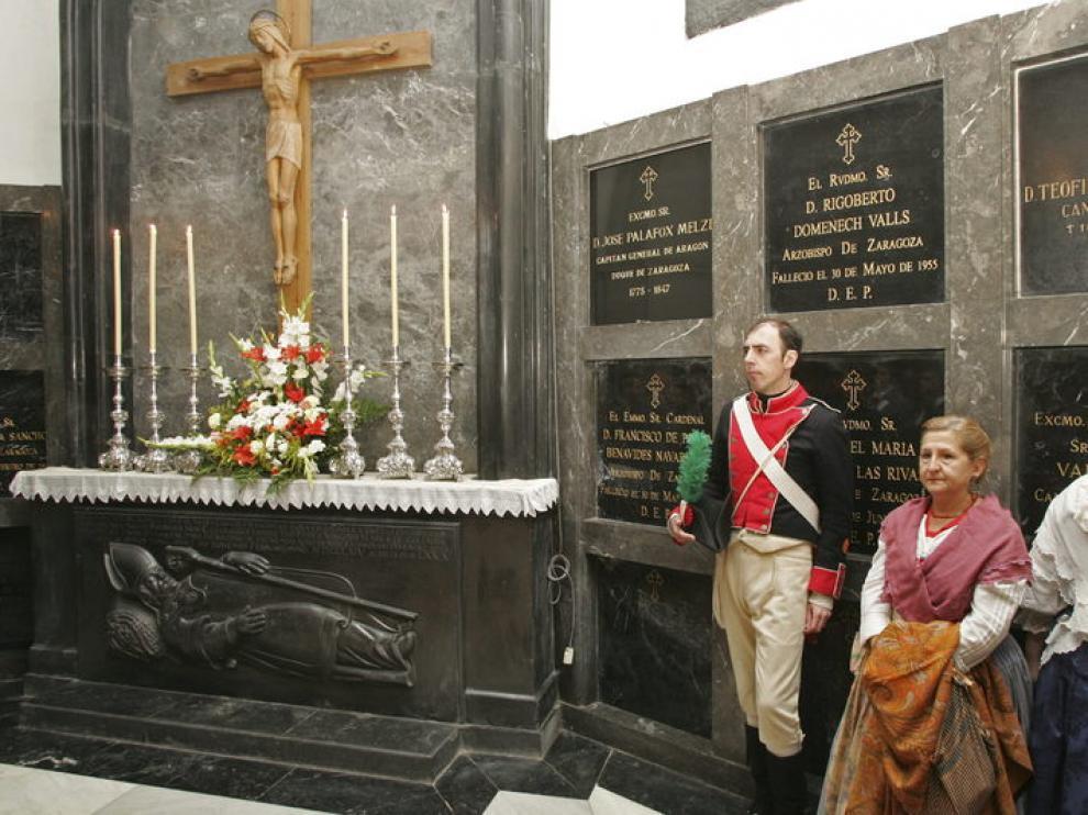 Imagen de un acto en la cripta del Pilar