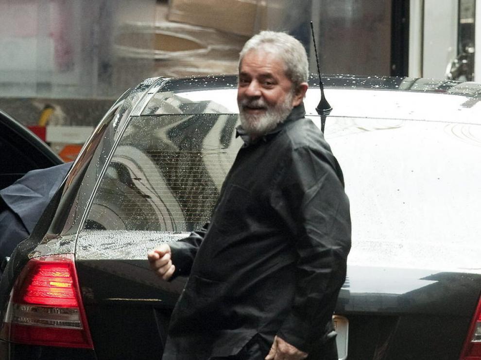 Lula da Silva a su llegada al hospital