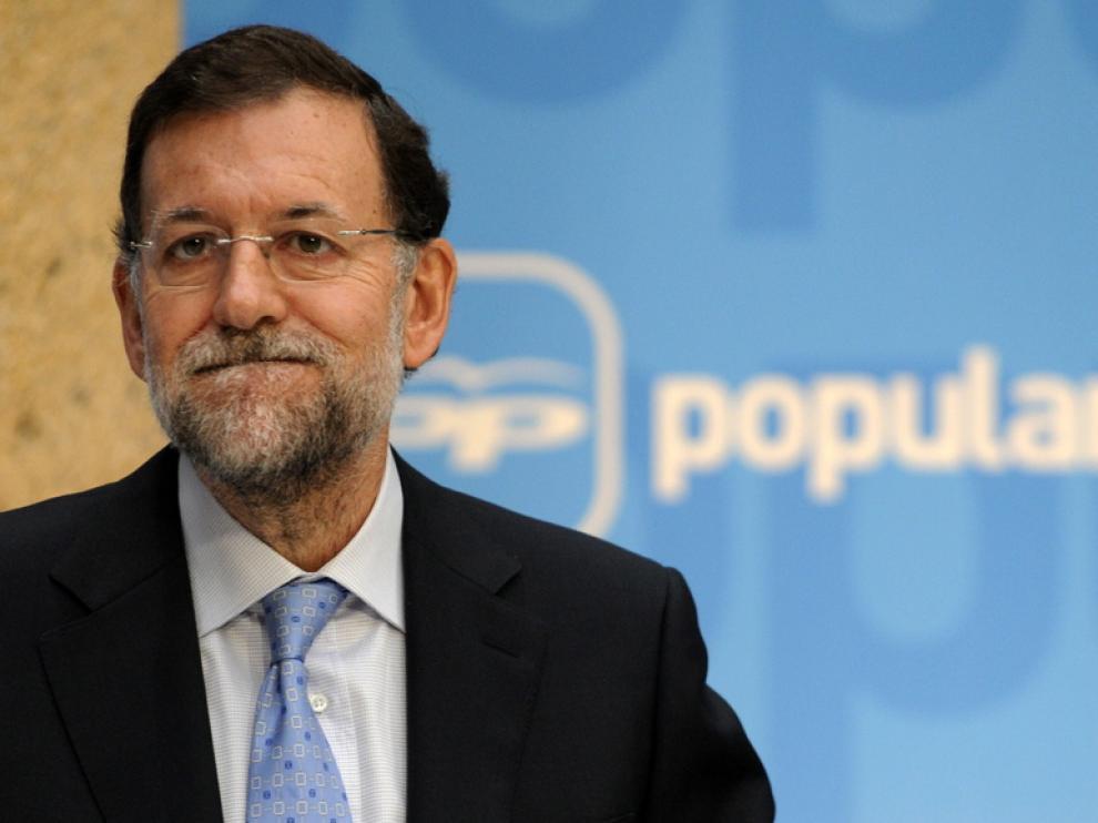Imagen de Mariano Rajoy durante la campaña electoral.