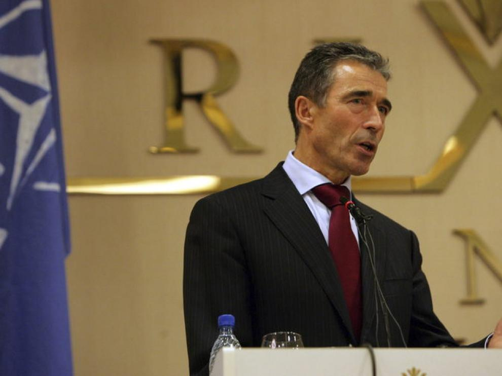 El secretario general de la OTAN, Anders Fogh Rasmussen